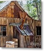 Desert Outback Farm Building Metal Print