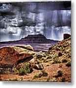 Desert Rain Metal Print by David Neely