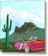 Desert Roadster 34 Ford Metal Print