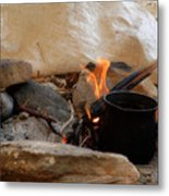 Desert Sinai Fireplace Egypt Metal Print