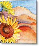 Desert Sunflower Metal Print