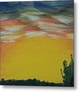 Desert Sunset Metal Print by Steve Jorde