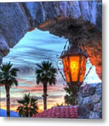 Desert Sunset View Metal Print