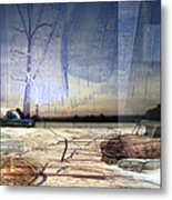 Desert Tracks Metal Print