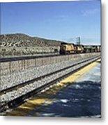 Desert Train Metal Print