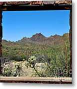 Desert Window Metal Print