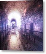 Deserted Prison Hallway Metal Print