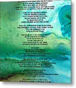 Desiderata 2 - Words Of Wisdom Metal Print