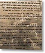 Desiderata Military Metal Print
