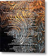 Desiderata On Gold Metal Print
