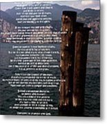 Desiderata On Lake View Metal Print