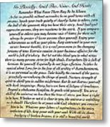 Desiderata Poem On Watercolor Metal Print
