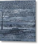 Desiderata Winter Scene Metal Print