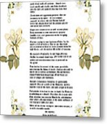 Desiderata With Art Metal Print by Anne Norskog