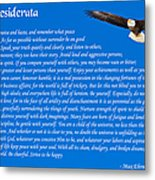 Desiderata With Bald Eagle Metal Print