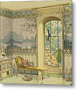 Design For A Bathroom, From Interieurs Metal Print