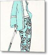 Design For A Day Dress C 1919 Metal Print