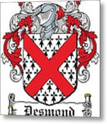 Desmond Coat Of Arms Irish Metal Print