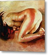 Despair - The Nude In Sadness Metal Print