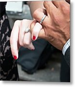 Destination Wedding Hands New Orleans Metal Print