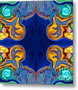 Destiny Unfolding Into An Abstract Pattern Metal Print