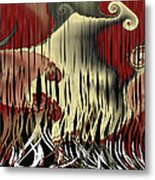 Destruction Of The Earth Abstract Metal Print