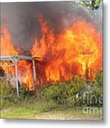 Destructive Fire Metal Print