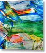 Detail Of Abstract Watercolor Painting Metal Print
