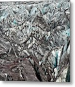 Detail Of Icelandic Glacier Metal Print
