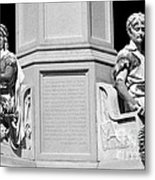 Detail Of Monument Statues - Bw Metal Print