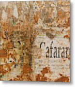 Detail Of Old Stone Wall In Sorrento Metal Print