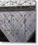 Detail Of Pei Pyramid At Louvre Paris France Metal Print
