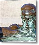 Detail Of Sculpture Metal Print by Borislav Marinic