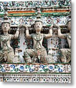 Detail Of Temple, Thailand Metal Print