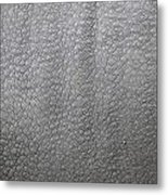 detail of the skin of an Indian rhinoceros in a zoo Netherlands Metal Print by Ronald Jansen