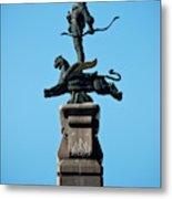Detailed Images Of Statues In Almaty Metal Print