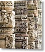 Details Of The Columns In The Qutab Metal Print