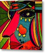 Determination - Face - Expression Metal Print