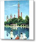 Detroit - Gladwin Waterworks Park - Jefferson Avenue At The Detroit River - 1905 Metal Print