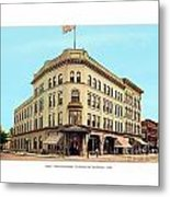 Detroit - The Brunswick Hotel - Grand Rive And Cass Avenues - 1900 Metal Print