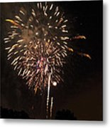 Detroit Area Fireworks -7 Metal Print