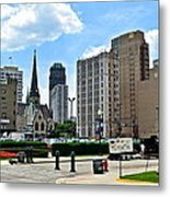 Detroit As Seen From Comerica Metal Print