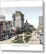 Detroit - Cadillac Square - 1905 Metal Print