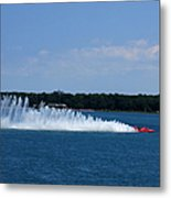 Detroit Hydroplane Races Metal Print by Michael Rucker