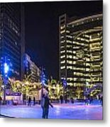 Detroit Ice Rink  Metal Print