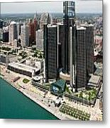 Detroit International Riverfront Metal Print