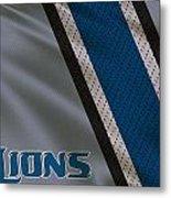Detroit Lions Uniform Metal Print