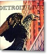 Detroit Lives Forever 2 Metal Print