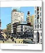 Detroit - Michigan And Griswold Avenues - 1910 Metal Print