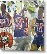 Detroit Pistons Bad Boys  Metal Print